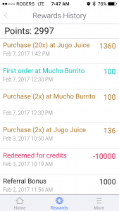 Ritual rewards history