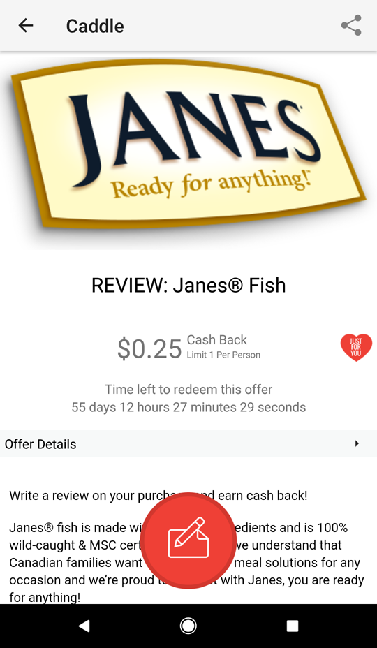 Janes review on Caddle