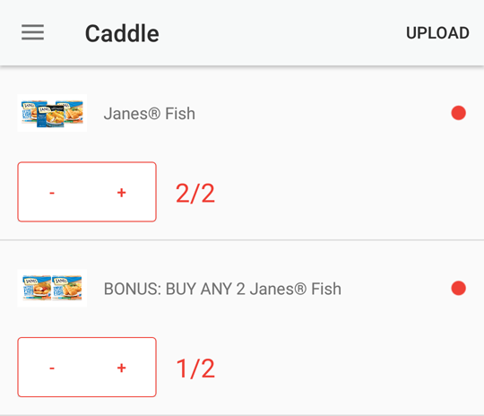 Caddle receipt upload