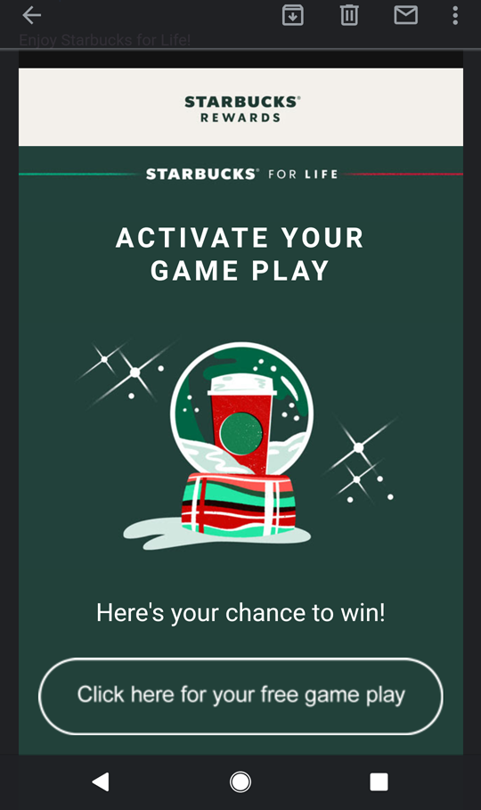 Starbucks For Life free play
