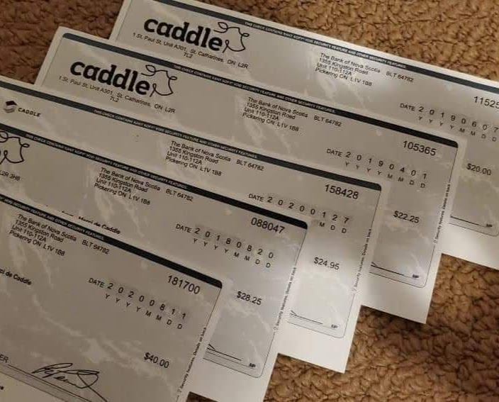 Caddle cheques